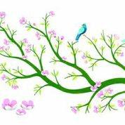 Wandsticker Kirschblüten 3D Djeco