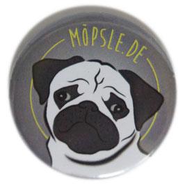"""Magnetbutton Charakter Mops V4 """"Möpsle"""""""