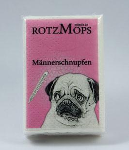 """""""ROTZ-MOPS"""" - """"Männerschnupfen"""" Papier-Taschentücher Einzelpackung"""
