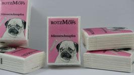 """""""ROTZ-MOPS"""" - """" Männerschnupfen"""" Papier-Taschentücher 5er Set"""