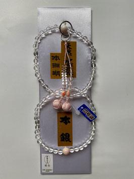 天然水晶 本珊瑚 浄土宗用 本式数珠