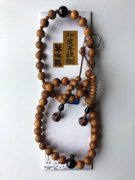 印度菩提樹 茶水晶 浄土宗用 本式数珠