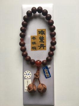 本紫丹 本瑪瑙 略式数珠