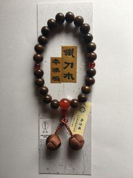 鐵刀木 本瑪瑙 略式数珠