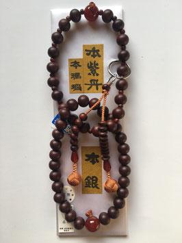 本紫檀 本瑪瑙 浄土宗用 本式数珠