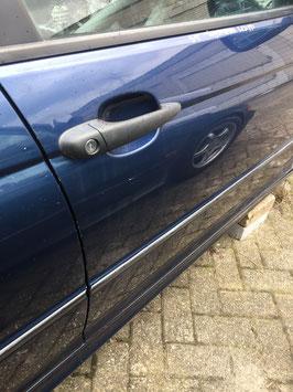 Deur BMW E46 sedan-touring rechtsvoor  Mysticbleu metallic