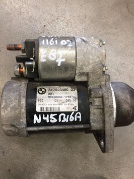 Startmotor BMW E81 E82 E87 E88 n45 motor