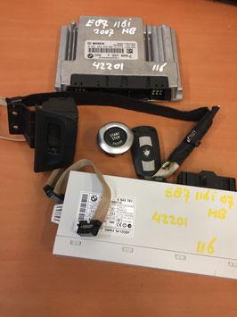 DME CAS2 sleutelset BMW E87 E88 116I 2007