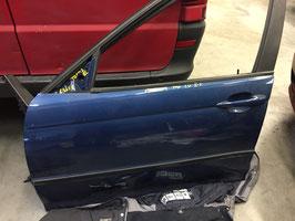 Deur BMW E46 sedan en touring Topasblau linksvoor