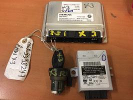 DME EWS Sleutel en Contact set BMW X3 2.5i handbak  oem 7548769