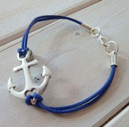 Ankerarmband blau
