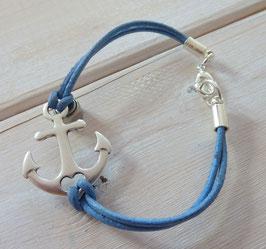 Ankerarmband hell blau