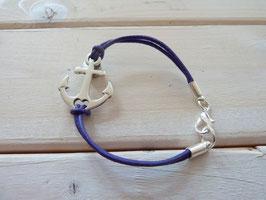 Ankerarmband dunkel lila