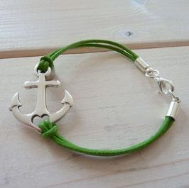 Ankerarmband hell grün