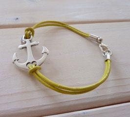 Ankerarmband gelb