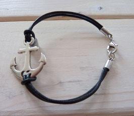 Ankerarmband schwarz