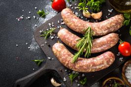 Grobe Bratwurst vom Schottischen Hochlandrind