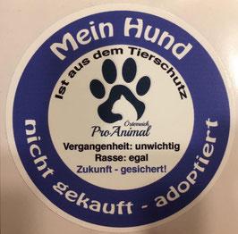 """Aufkleber """"Mein Hund ist aus dem Tierschutz"""""""