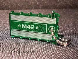 """M42 Ventildeckel Schlüsselanhänger - Variante 2 mit Deckel """"Umriss-Linien"""""""