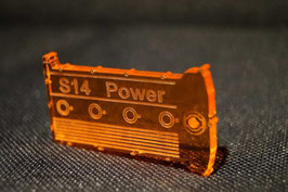 S14 Ventildeckel Lederschlüsselanhänger