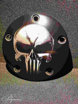 Pointer/Timer Cover 'death head' für Harley-Davidson