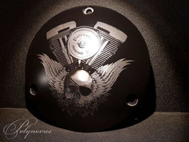 "Derby Cover ""Flying Skull"" für Harley-Davidson"