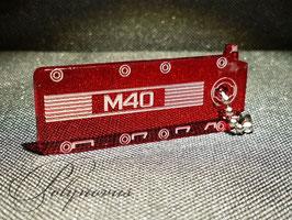 M40 Ventildeckel Lederschlüsselanhänger