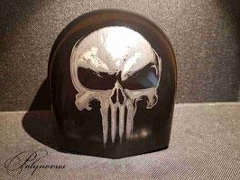 Hupencover 'death head' für Harley-Davidson