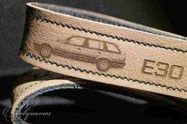 E30 Touring Schlüsselanhänger Orginalleder Natur