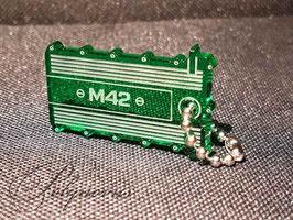 M42 Ventildeckel Lederschlüsselanhänger