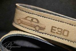 E30 Limousine Schlüsselanhänger Orginalleder Natur