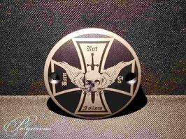 """Pointer/Timer Cover """"Kreuz mit Schädel & Schwert"""" für Harley-Davidson"""