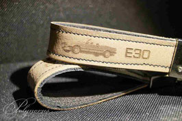 E30 Cabrio Schlüsselanhänger Orginalleder Natur