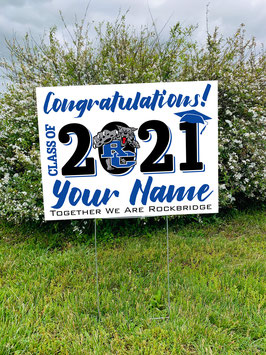 Personalized RCHS Class of 2021 Senior Yard Sign