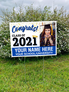 Personalized Class of 2021 Senior Yard Sign