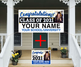 Personalized Class of 2020 Senior Banner + Yard Sign