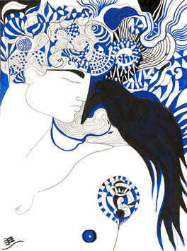 """""""Bleu corbeau"""" // Vendu"""