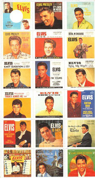 Plattencover von Elvis in Briefmarkenform