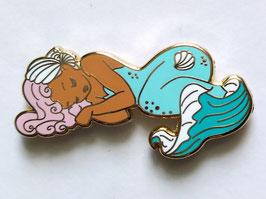 Sleeping Siren enamel pin turquoise