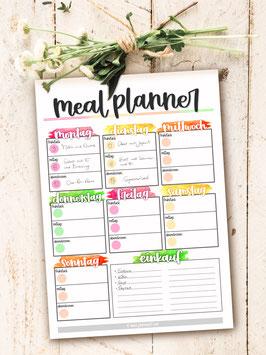 Mahlzeitenplan Block DIN A4 50 Blatt