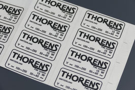 """Thorens"" chassis sticker"