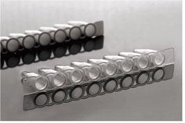 NEST - 8ter-PCR-Strips ohne Deckel, 0,1 oder 0,2 ml, klar oder weiß, VE = 125 St. = 1.000 Tubes