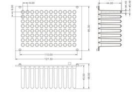 NEST MagPure 96-Spitzenkämme für magnetische Applikationen, steril, VE = 50 St.