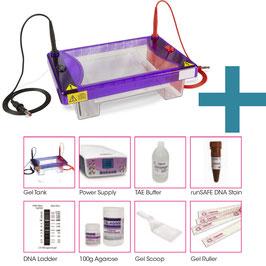 Kompletter 15 x 15 cm Agarosegel-Kit mit Reagenzien