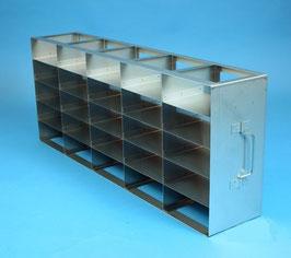 Edelstahl-Schrankgestell für 25 Boxen passend zu Haier Ultratiefkühlschränken