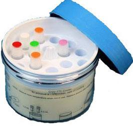 JoJo Cryo Einfrierbox Mrs. Freezing für bis zu 18 Kryoröhrchen von 1,0 bis 2,0 ml.
