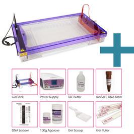 Kompletter Hochdurchsatz-Agarosegel-Kit und Reagenzien