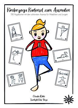Sunlight Kids Yoga KINDERYOGA KARTENSET  ZUM AUSMALEN: 150 Yogakarten mit den schönsten Asanas für Mädchen und Jungen