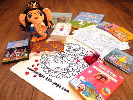 """Starterset """"XXL"""" (Ganesha, Malbuch, DVD's, 150 Yogakarten, Acroyoga&Partneryoga Kopiervorlagen, Herzen & Käfer, Augenkissen, 4 CD's) - inkl. Versand innerhalb Deutschlands"""