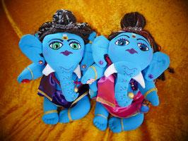 Ganesha Pärchen hellblau